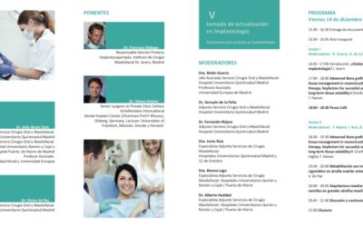V Jornada de actualización en Implantología